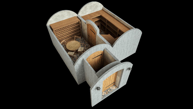 Kelder 21,4 m² STANDARDPAKETT