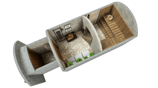 Saun 11,7 m² STANDARDPAKETT